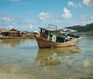 Some old boat next to the shark farm (where you can swim with the sharks) in Karimunjawa.