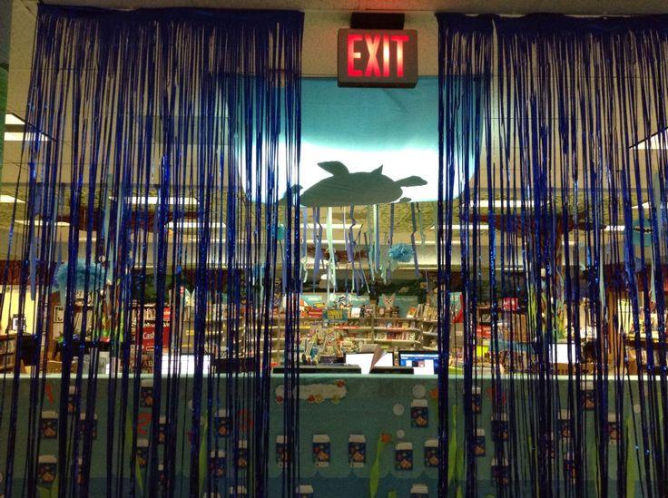 Scholastic Under the Sea book fair decor
