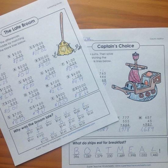 149 best Math - Super Teacher Worksheets images on Pinterest