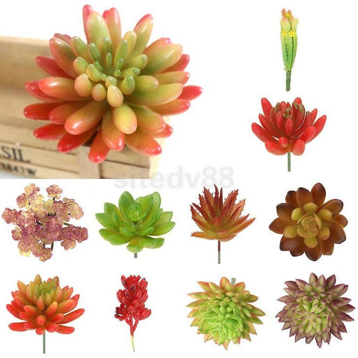 Artificial Fake Succulent Flower Floral Plant Foliage Home Garden Landscape Deco