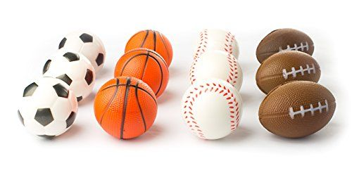 Neliblu Sports Themed 25Inch Foam Squeeze Balls for Stress Relief 1 Dozen ** Read more reviews of the product by visiting the link on the image.Note:It is affiliate link to Amazon.