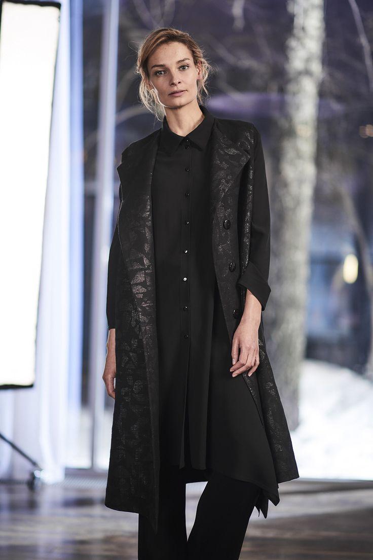 Купить Блуза Рубашка-угол с воротником от Lesel (Лесель) дизайнер одежды