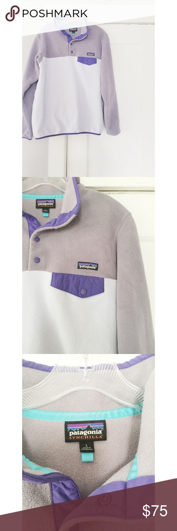 Patagonia Fleece Pullover Patagonia Fleece Pullover. Two toned purple fleece. Great condition no pilling. Women's size large. Fits true to size. Patagonia Jackets & Coats