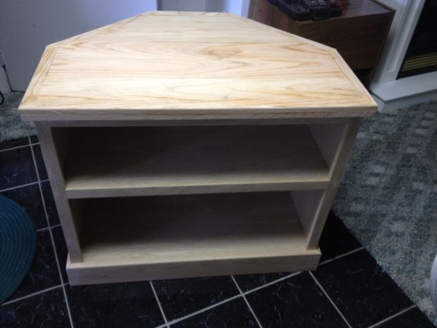 Tall Corner Media Console Free woodworking plans and projects information for building furniture corner cabinets Build this corner