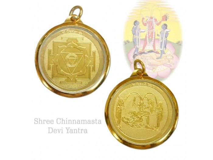 Feel Blessed by wearing the Chinnamasta yantra locket. Chinnamasta is the shakti or power of Indra or Lightning, the electrical energy of transformation. http://vedicvaani.com/index.php?_route_=Chinnamasta-Yantra-Locket .Helps to free from the limitations of the mind, helps successful meditation, improves perception, free from troubles or find solutions to problems. Buy locket yantras online from Vedic Vaani.