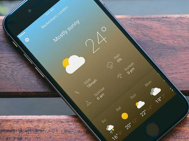Another Weather App concept