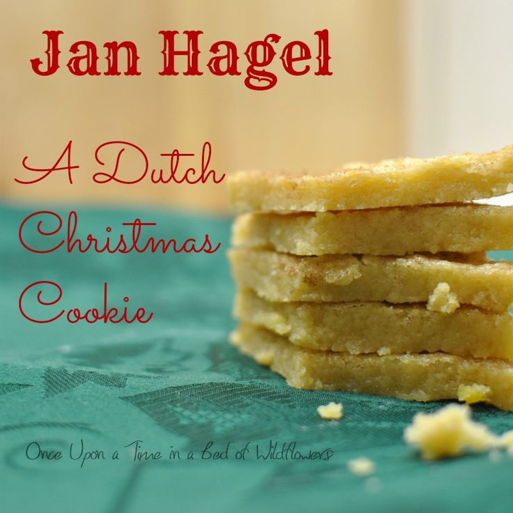 Jan Hagel: A Dutch Christmas Cookie // Once Upon a Time in a Bed of Wildflowers