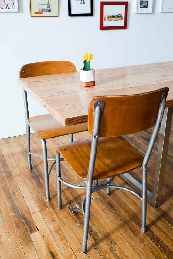 Perfect Vintage Wooden School Chairs Industrial For Ideas