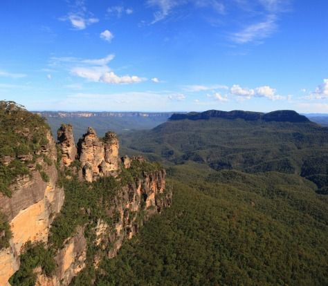 """The Three Sisters, Blue Mountains, NSW: """"Buy a postcard at the airport instead""""Photo: iStock"""
