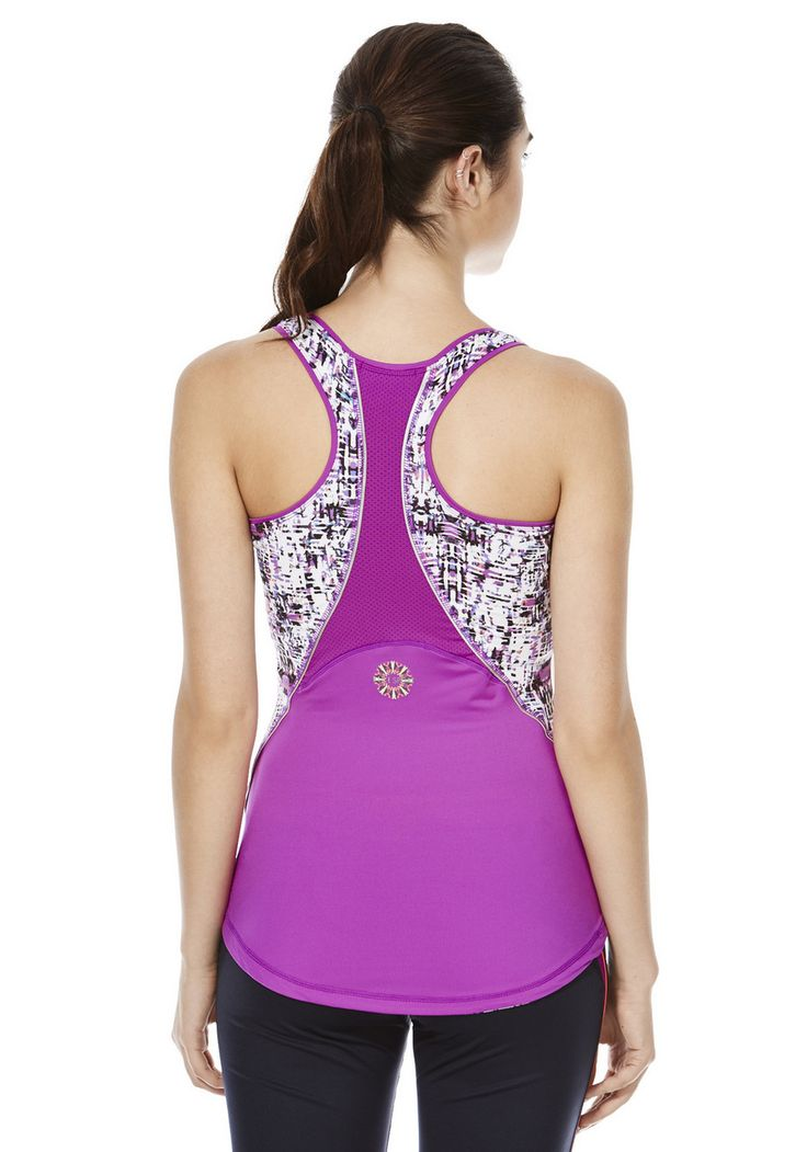 Clothing at Tesco Elle Sport Graphic Print Panel Support