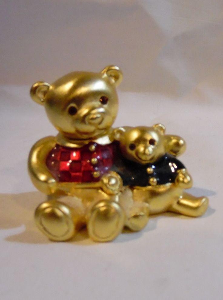 Estee Lauder Beautiful Perfume Solid Gold Teddy Bears EUC