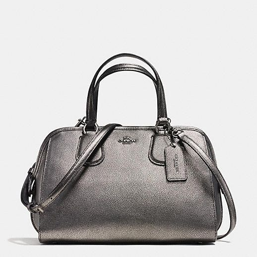 Coach Designer Handbags Nolita Satchel In Metallic Pebble Leather