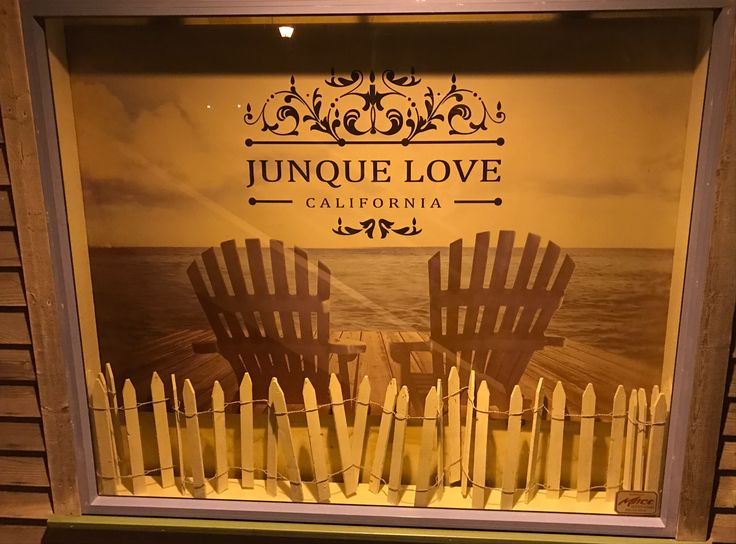 Retail Window Display At Junque Love In Morro Bay, CA