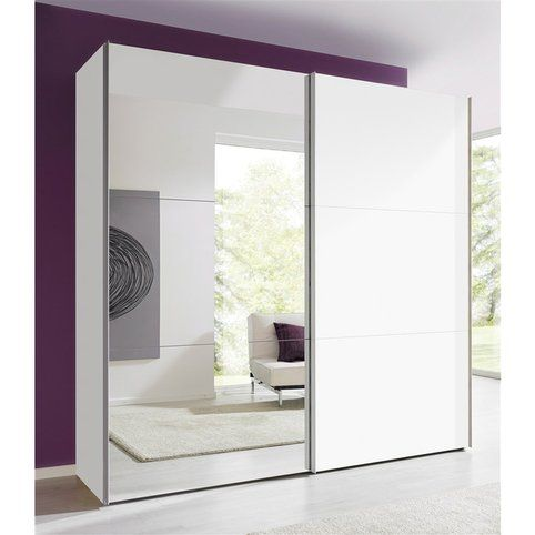 17 best ideas about porte coulissante miroir on pinterest portes de placard - Armoire blanc laque porte coulissante ...