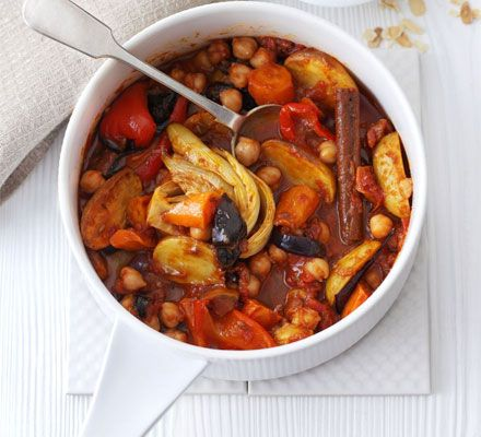 This veggie Moroccan-style stew tastes even better if made a few hours before, or even a day in advance