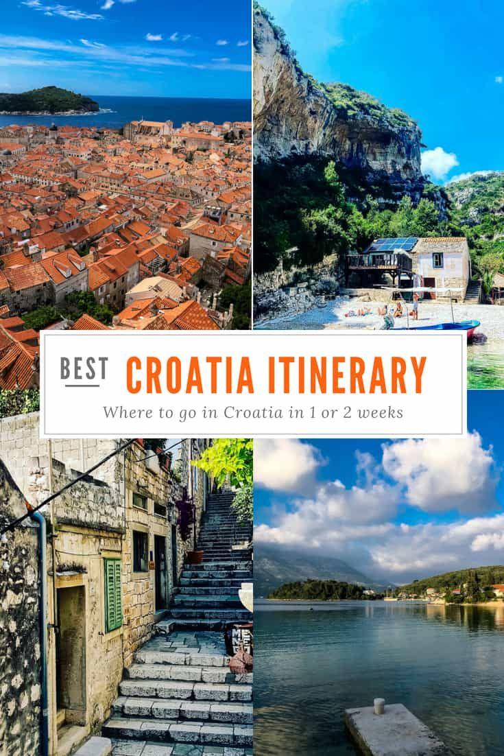 A Perfect Croatia Itinerary Where To Go In Croatia In One Week Croatia Itinerary Croatia Travel Guide Croatia Travel