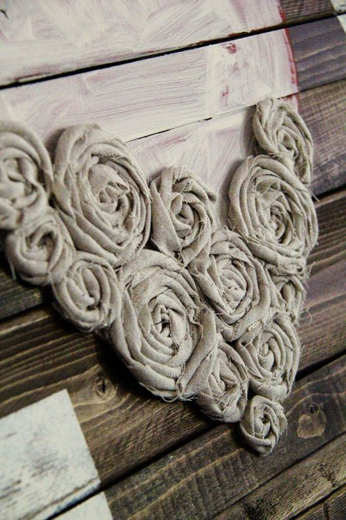 Find Inspiration With Valentines  Wall Art And Gift Ideas-homesthetics.  ***wall art with burlap roses