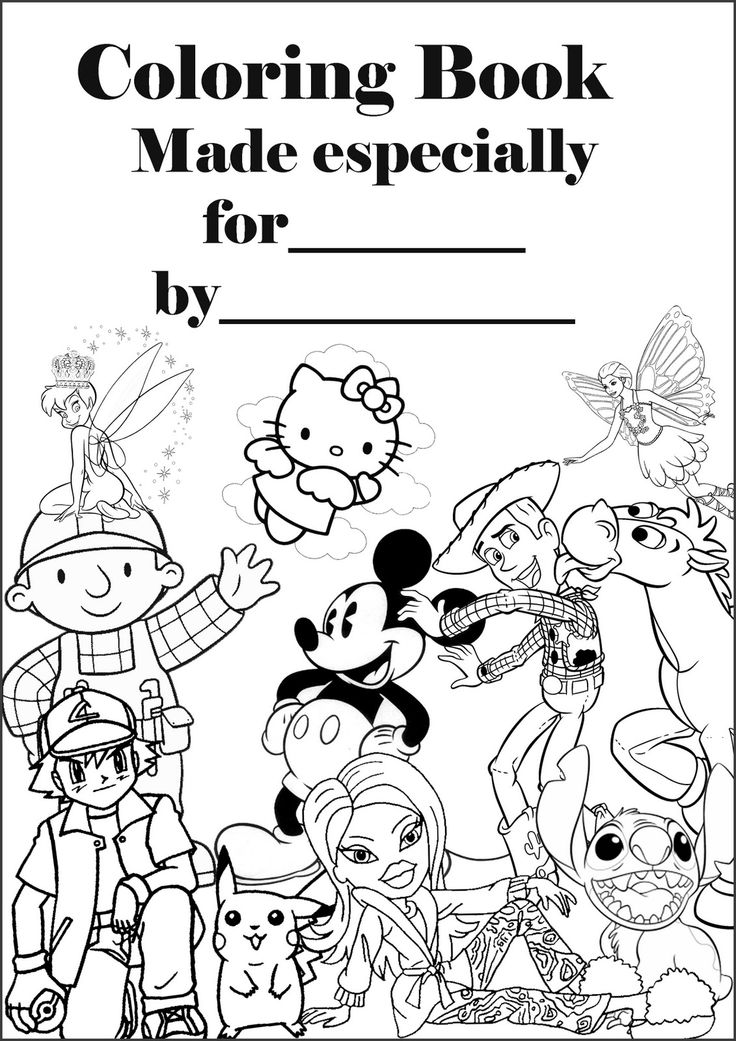 Make your own coloring book Print