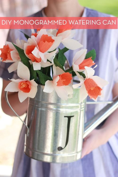 Make It: Do-It-Yourself Monogrammed Watering Can