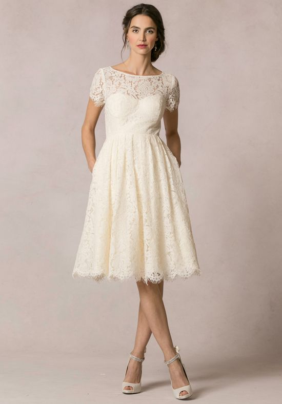 All Over Lace Wedding Dress With Illusion Sweetheart Neckline And A Line Skirt I