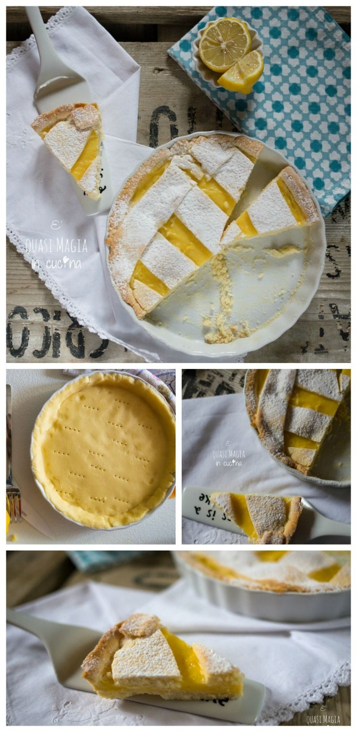 Crostata con Crema Pasticcera al Limone- Tart with Lemon Pastry Cream