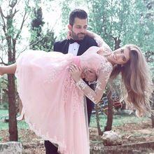 Sexy Langarm Rosa 2016 Prom Kleid Mit Spitze Appliques tee Länge Kurz Tüll Formale Abschlussball-parteikleider Cocktail Kleid ZB //Price: $US $127.49 & FREE Shipping //     #dazzup