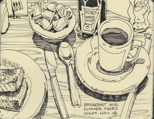 Graham Smith Illustration Blog: Restaurant Sketchbook