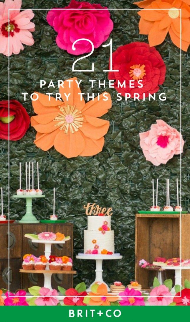 Try these party themes this spring.