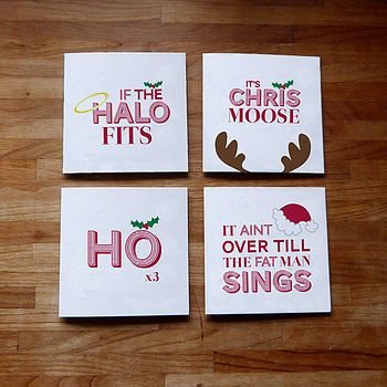 Set Of 12 More Silly Sayings Christmas Cards