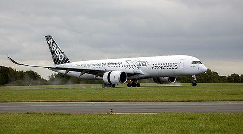Airbus A350 visits Dublin Airport