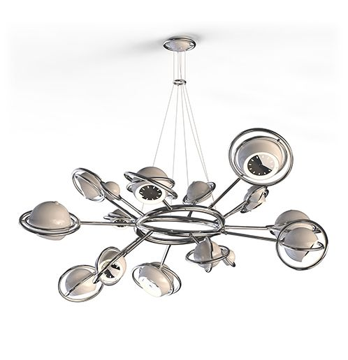 Cosmo suspension lamp is inspired by space with all its galaxies and planets that surrounds us.