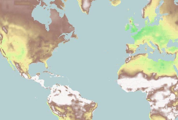 Nuevo mapa para ver el cambio climático en cualquier parte del mundo  #mapa #cambioclimatico #tierra #clima #medioambiente