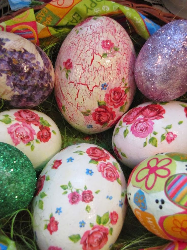 Húsvéti tojások decoupage-olva / Easter eggs with decoupage technique | M H W handmade