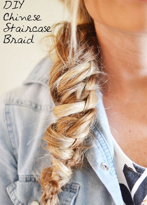 Repinned: DIY Chinese Staircase Braid