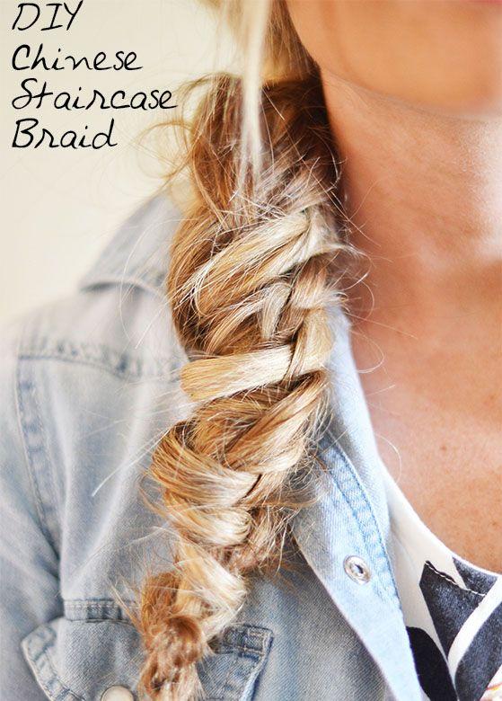 DIY Chinese Staircase Braid // talk about a braid!