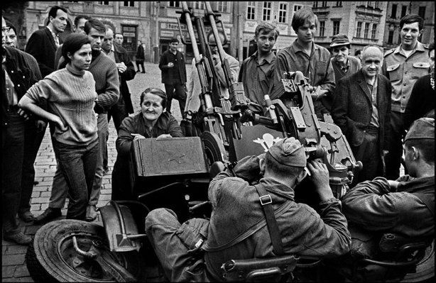 PRAGUE, Czechoslovakia—The invasion by Warsaw Pact troops, August 1968
