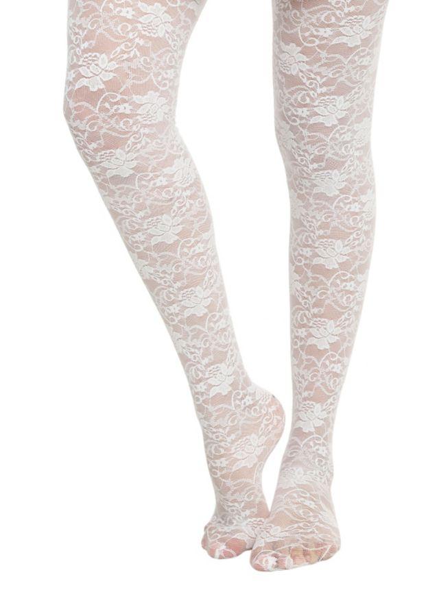 Sheer White Pantyhose For 74