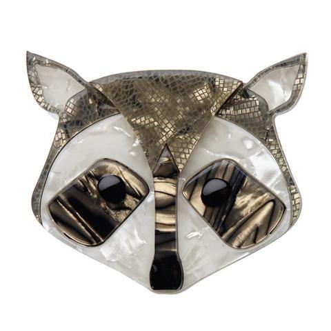 Masked Trickster Brooch