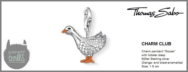 Thomas Sabo Fall 2012 - The Charm Club - Goose - http://www.endangeredtrolls.com/thomas-sabo-fall-2012-charms-2/#