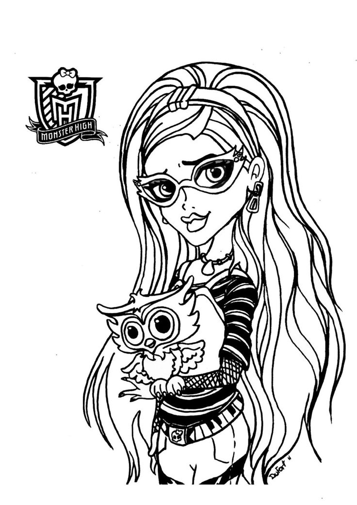 monster high free printable coloring