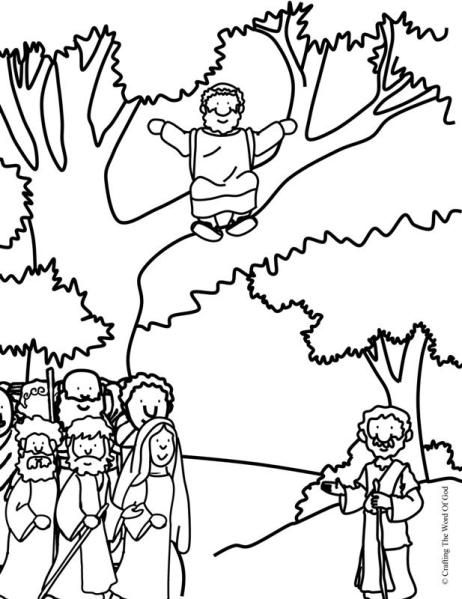 Zacchaeus Come Down Coloring Page