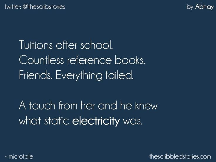 Even I understood the concept of static electricity when I was in 10th grade and he touched me❤️