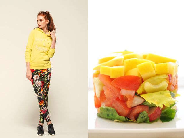 Franklin and Marshall ss 2014 / Tartar of vegetables, apples and salmon