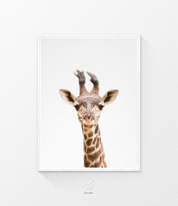 Giraffe - Printable  INSTANT DOWNLOAD  Print out this modern wall artwork from…