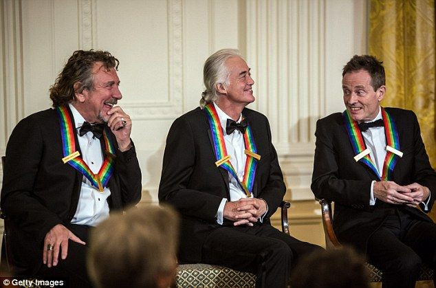 Led Zeppelin members being honored a Kennedy Awards reception.
