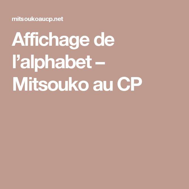 Affichage de l'alphabet – Mitsouko au CP