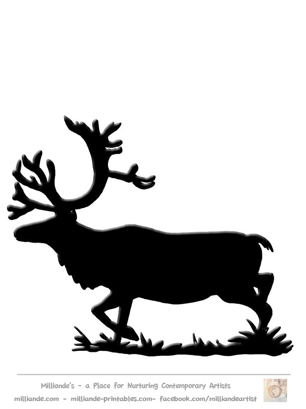 The 25 Best Reindeer Silhouette Ideas On Pinterest Deer