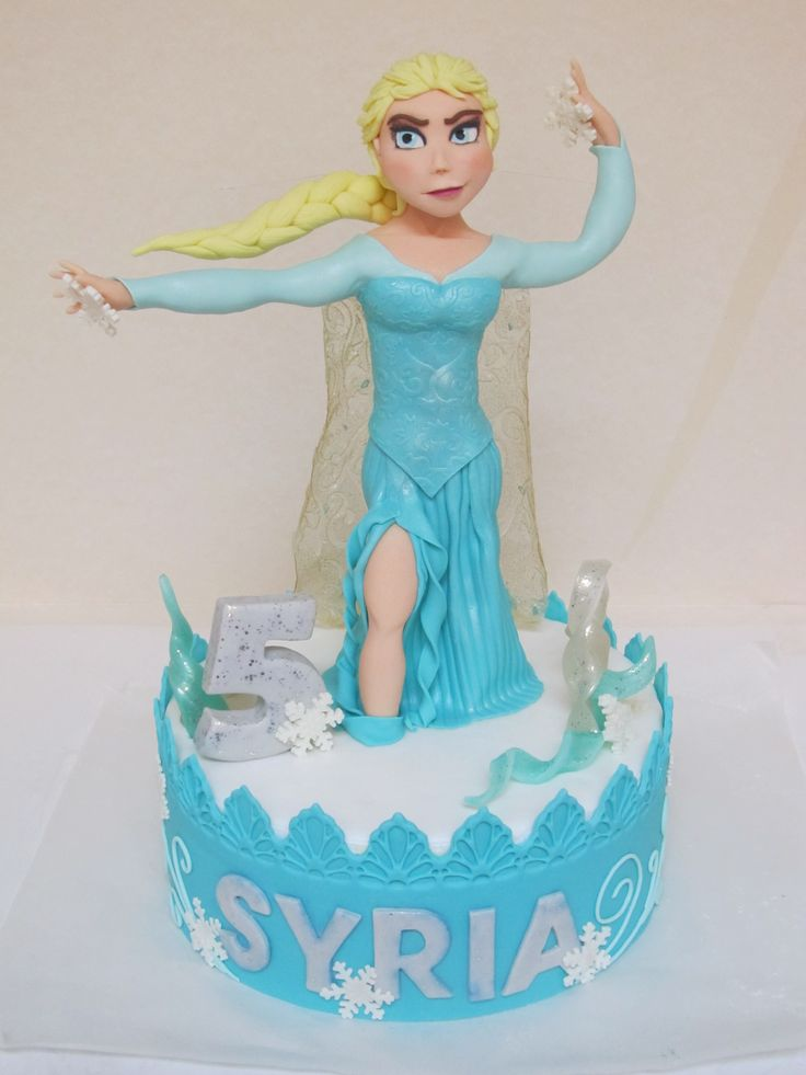 #Elsa di #Frozen : #topper in #pasta di #zucchero con # ...