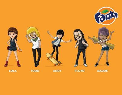 """Check out new work on my @Behance portfolio: """"Fanta characters"""" http://on.be.net/1DX1BHc"""