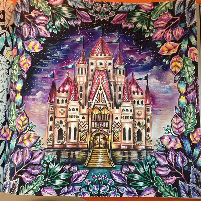 Castle Enchanted Forest By Eli Federzoni Adult Coloring Books